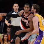The Blazers beat the Lakers in the return of Pau Gasol